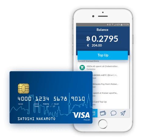 כרטיס חיוב Bitcoin Bitwala