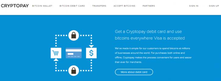 Cryptopay debit card