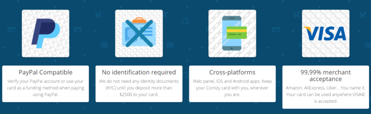 Services provided by Coinizy