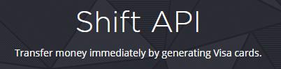 Shift API for developers