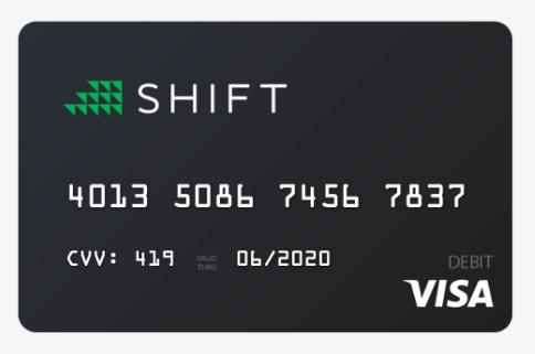 Shift card